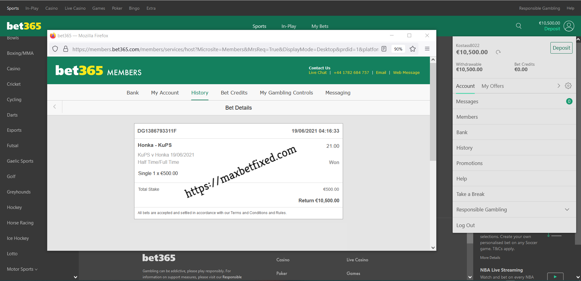 For register how fixed matches to FIXED MATCHES
